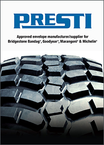 News - Presti Industries Approved Retread Envelope Supplier for Bridgestone Bandag, Goodyear, Marangoni, and Michelin